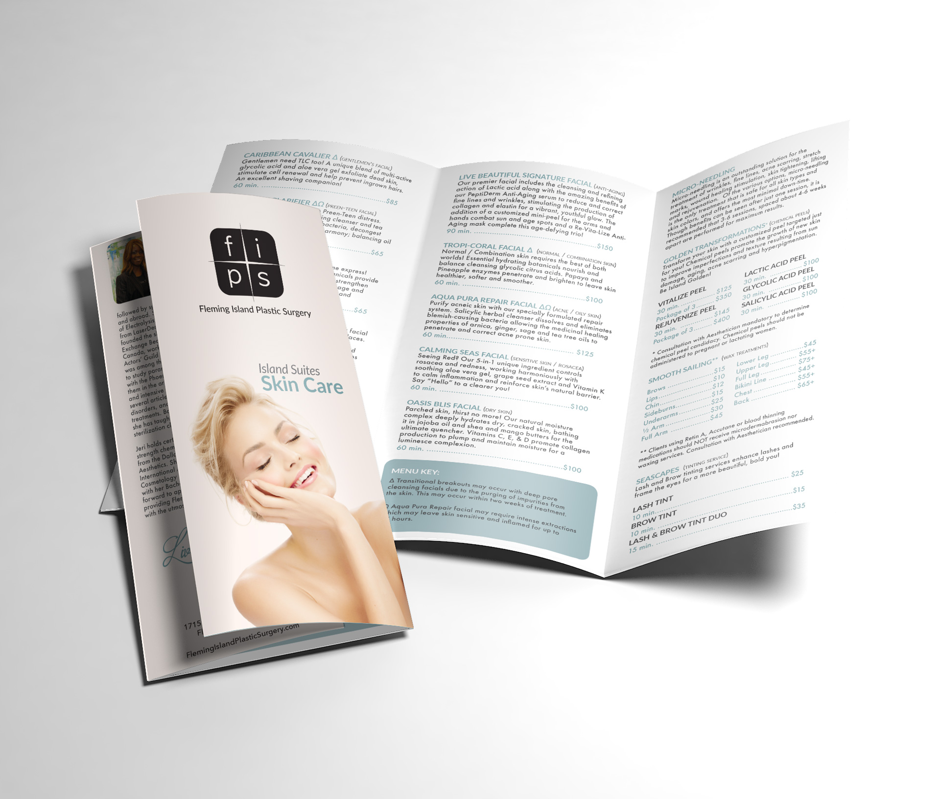 Fleming Island Plastic Surgery Skin Care Treatment Brochure