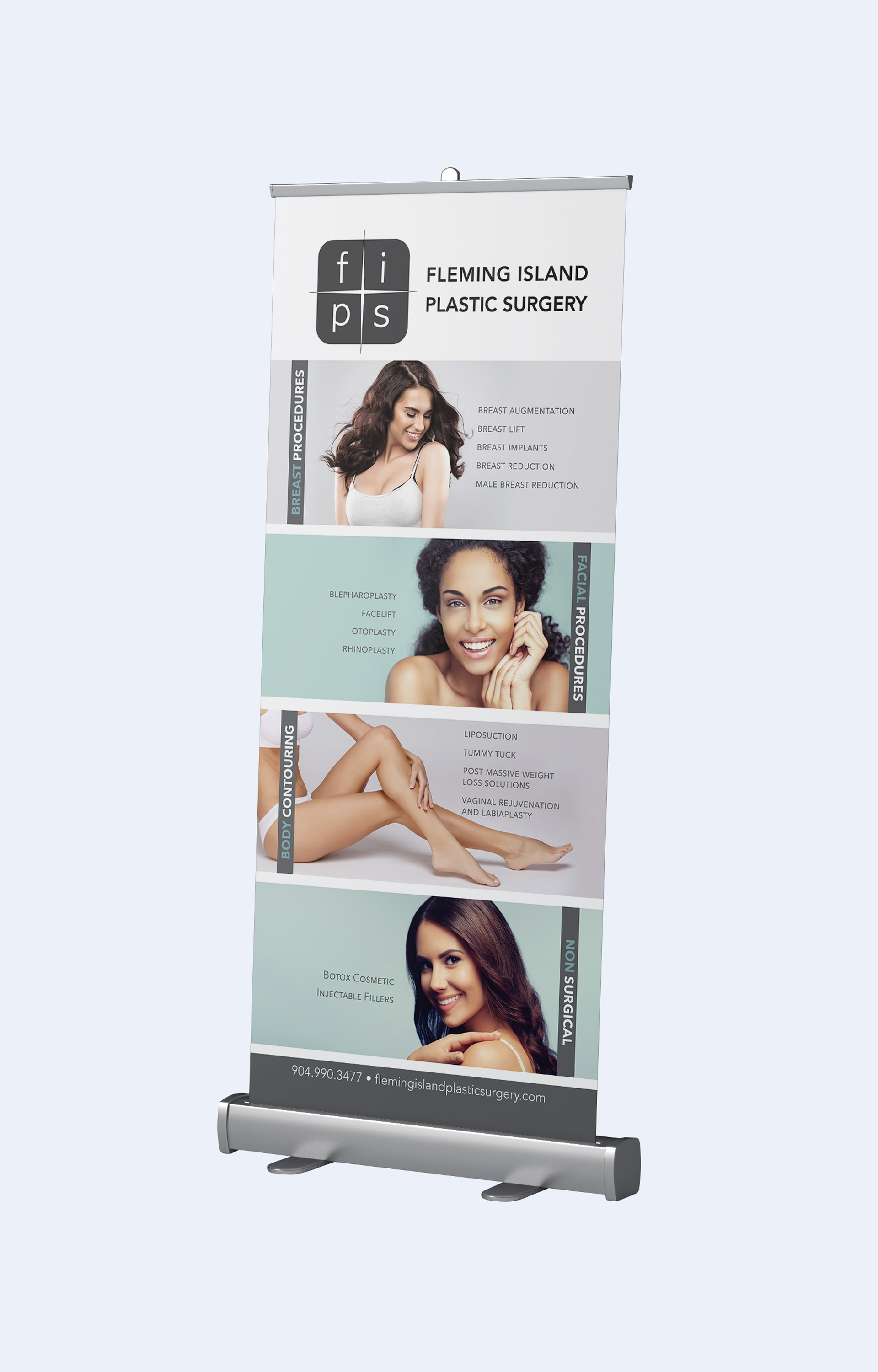 Fleming Island Plastic Surgery Rollerbanner
